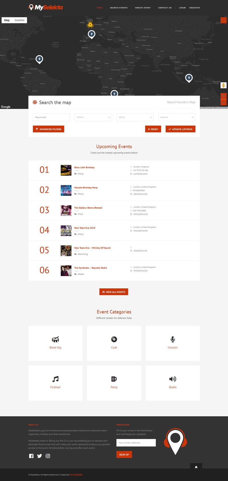 MySelekta Homepage